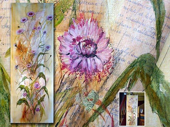 Peinture murale une composition sur toile de lin for Peinture murale lin